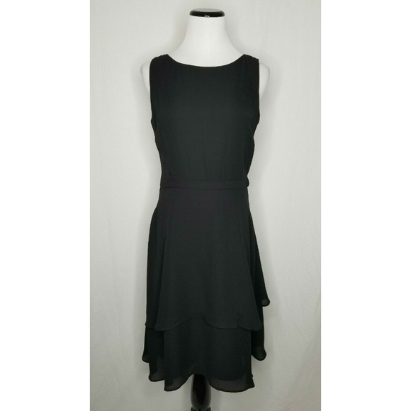 Taylor Dresses & Skirts - Taylor Black Fit N Flare Ruffle Layered Dress LBD